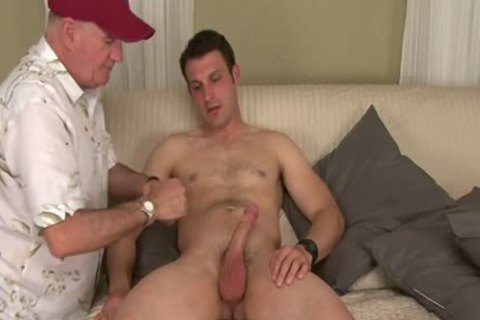 Straight Hunk Tricked Into Surprise oral During try-out