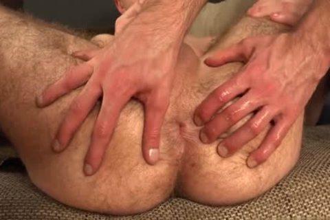 bushy homo Gaping With sex cream flow