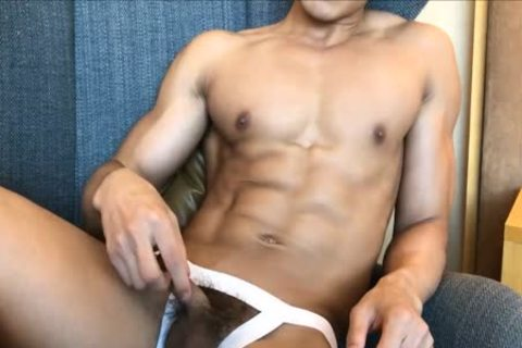 young handsome Hunk Jerking Showing Off His handsome Body
