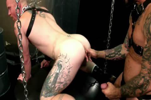 Rocco Steele penetrates Brock Rustin bare