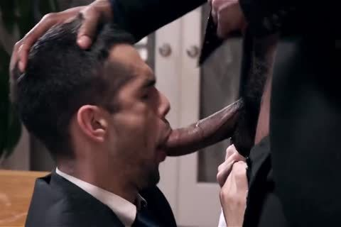Giving Your dark Boss A oral stimulation-job And Getting Barebacked