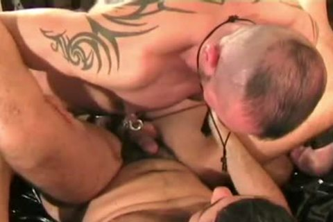Italian twink Bottom plowed By German Muscle Hunks In Leather And A thick Load To swallow