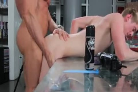 GayCastings - nasty Blond College twink acquires banged By Creepy Casting twink