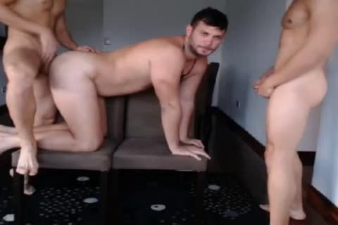 three handsome males Have joy On cam