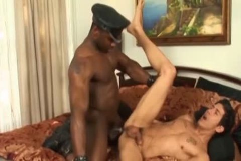 butthole banging Interracial homosexual guys In The bed