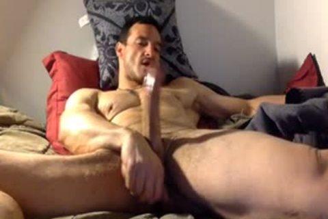 straight Daddy Watching Porn & Jerk On sofa
