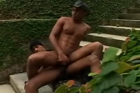 Brazilian Military studs poke outdoors