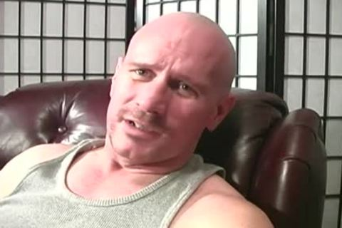 Bald White guy receives drilled By Two darksome dudes