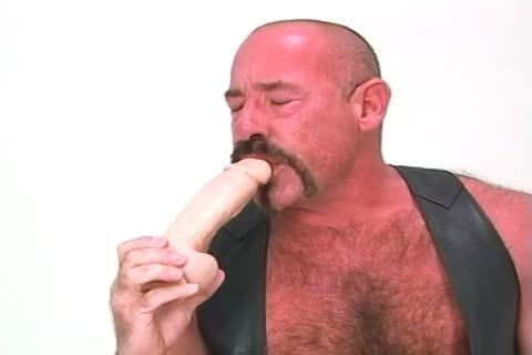enormous daddy guy Playing With His Dildos And pushing In