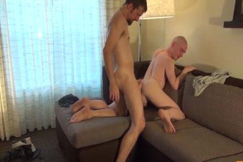 Gulping Down A plump penis