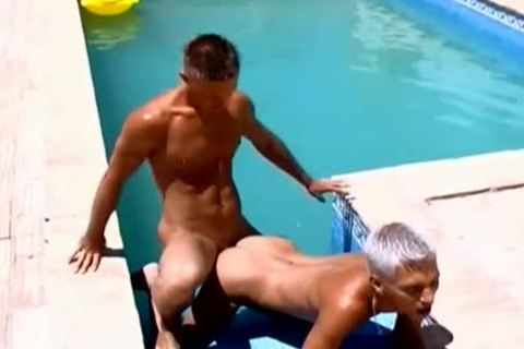 Wow gorgeous rods gorgeous Poolside gay butthole banging
