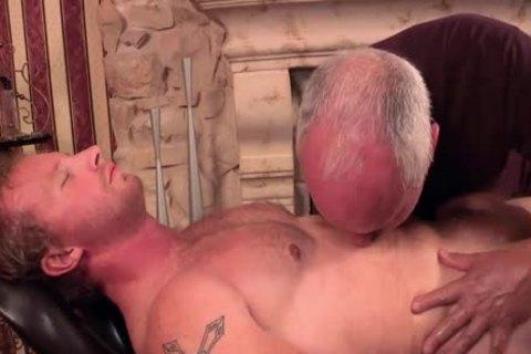 Uncut blonde Redneck Massage