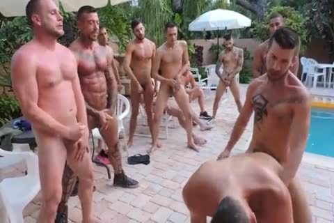 Owen's Poolside bunch-sex Ft. Trey Turner, Hans