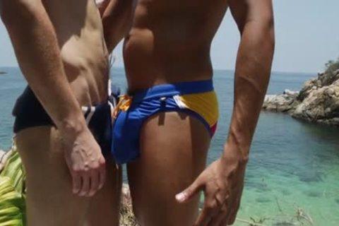 Latin homosexual Gaping With cumshot