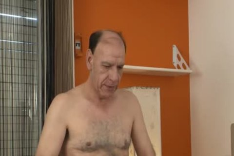 hairy Grampa bare nails twink