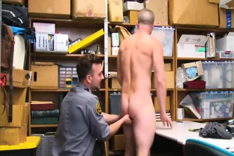 Shoplifting fellow Takes weenie Up His wazoo And Down His throat