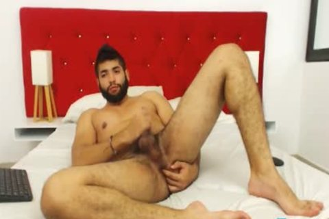 Ecio Murphy On Flirt4Free - hairy guy Fingers His booty And Cums