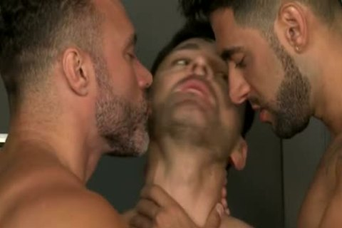 Muscle gay Flip Flop With Facial love juice