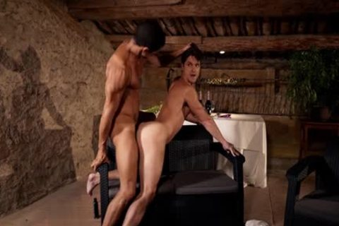 Latin gay Flip Flop With cream flow