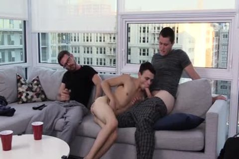 lascivious Stepdad And older Brother nailed A juvenile twink