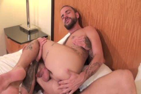 Tattoo Homo a-hole Sex And 10-Pounder Juice Flow