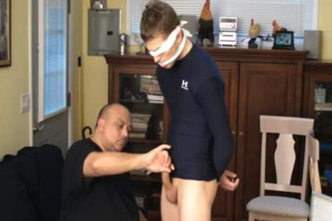 Straight Captive twink, tied And Gagged, Made To sperm