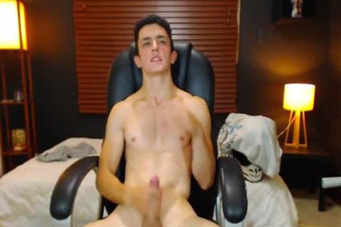 Duke J - Flirt4Free -  large Dicked guy Jerks Off With A Vibrating OhMiBod Lodged deep In His wazoo