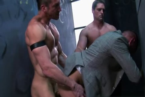 Muscle gay trio And Facial