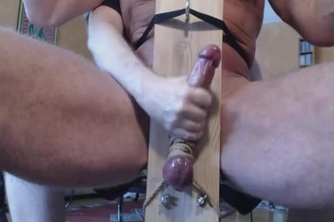 Milking This Alphas cock In A Milking Chair
