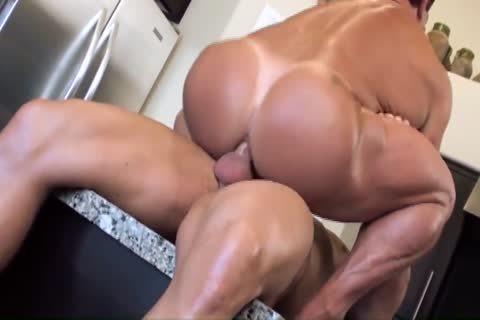 Muscle filthy plowing men