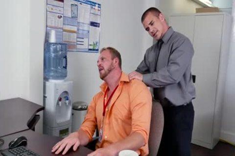 Muscle gay oral job And Facial