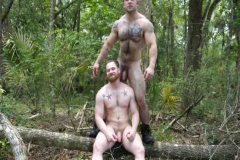 two Swinging dicks In The Woods
