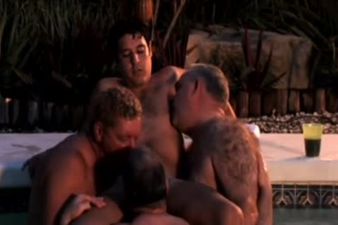 (LOUD) Dads' oral pleasure stimulation Pool Party