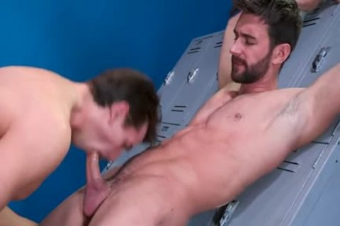 Intimate friends In The Locker Room