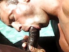 Three Hung dark guys suck penisthis dudead And fuck Eacyummythis duder