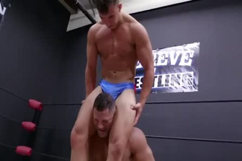 Daddy And Son Wrestling! Daddy Is So beautiful In Minimal Speddo, not quite A thong
