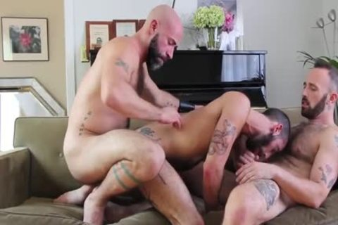 A palatable Muscle Daddy, Brad, bangs Hugo And Breeds Him During Their Coarse Intense pound.