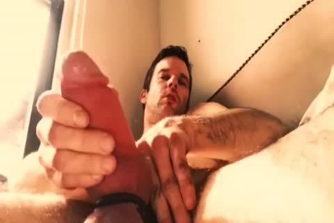 juicy Dilf Jerks His Beer Can penis