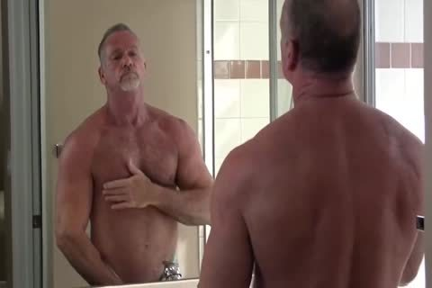 sleazy Muscle Daddy Mikey Shower jerk off