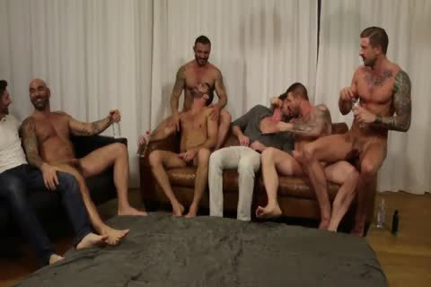 Rocco steel's Breeding Party Grows To Nine guy orgy