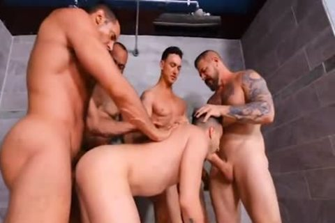 Prison Shower group-sex