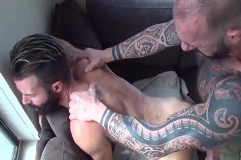 Vic Rocco ploughs Brendan Patrick