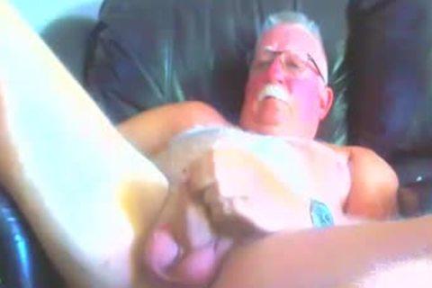 in nature's garb grand-dad widening His Legs Apart