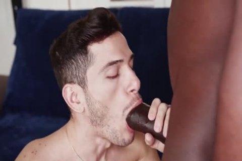 Interracial duo Barefuck With Mega cock