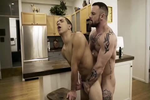 muscular chap plows twink In The Kitchen