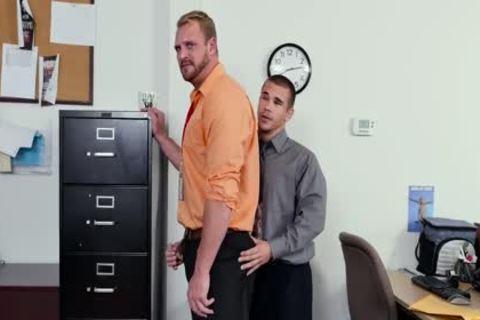 GRAB ass - recent Employee gets Broken In By The Boss, Adam Bryant