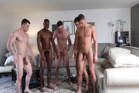 Five Bubble-butted-twinks orgy