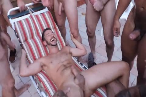 Poolside raw orgy