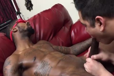 Hetero ebon man Licked By A boy For The first Time darksome