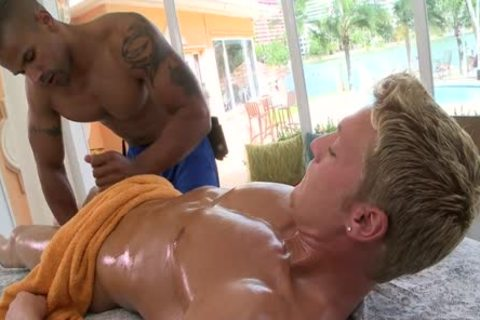 James Rubs Blond Muscle chap And receives fucked By Him